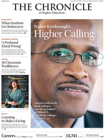 The Chronicle of Higher Education, October 27, 2017