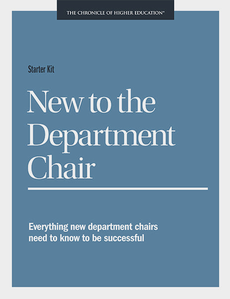 Starter Kit: New to the Department Chair