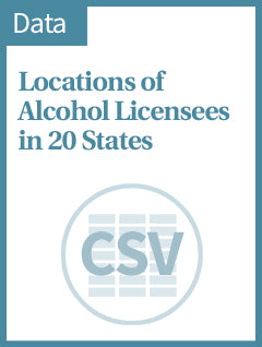 Locations of Alcohol Licensees in 20 states