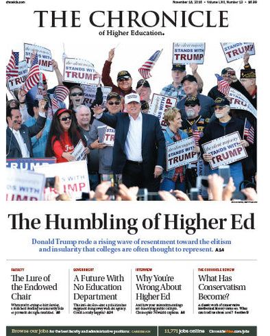 The Chronicle of Higher Education, November 18, 2016