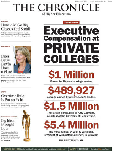The Chronicle of Higher Education, December 9, 2016