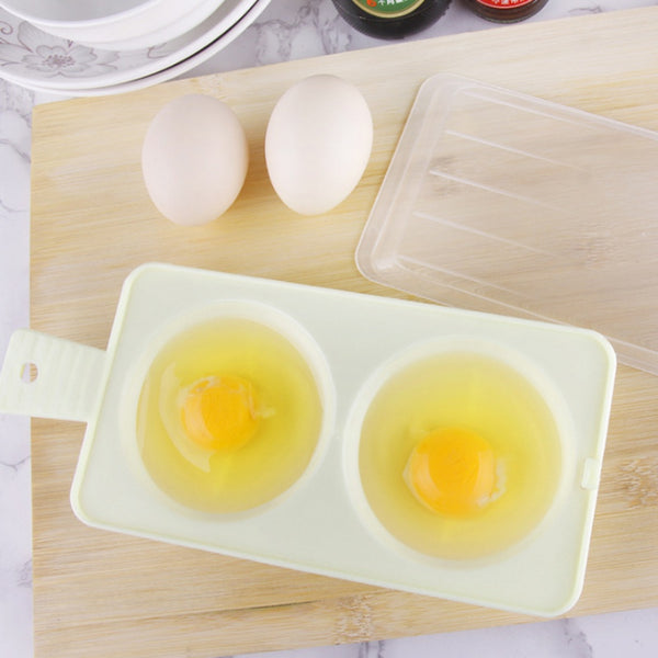 Two Egg Poacher for Breakfast or Sandwich to Cook in Microwave Oven