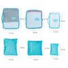Set of 6pcs Organizer Packing Cubes of Mesh Oxford Cloth and Nylon