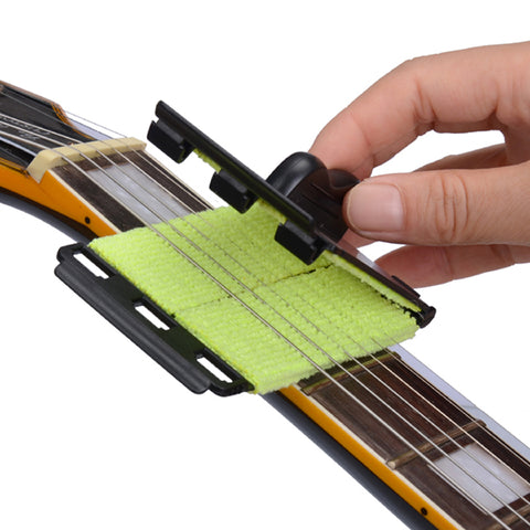 Guitar String Cleaner - Bass-Ukulele-Banjo Quick-Set Tool for all Stringed Musical Instruments