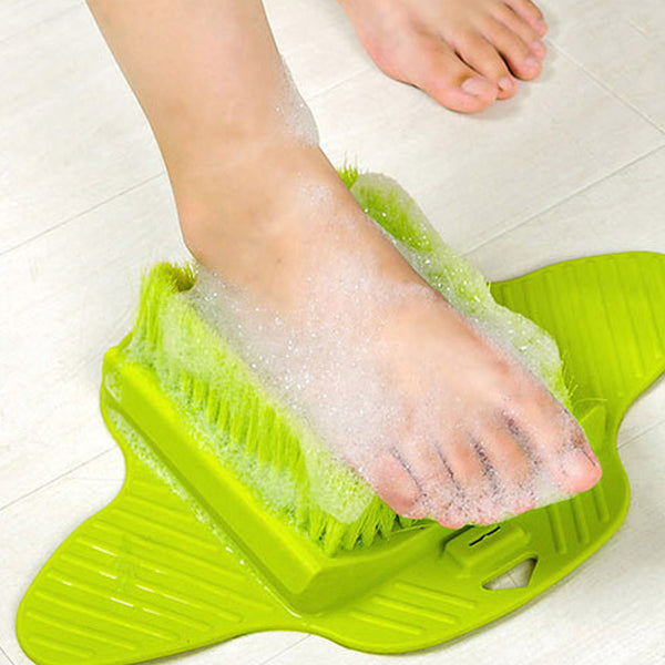 Foot Massage and Scrub Brush which Exfoliates and Cleans Softens Feet