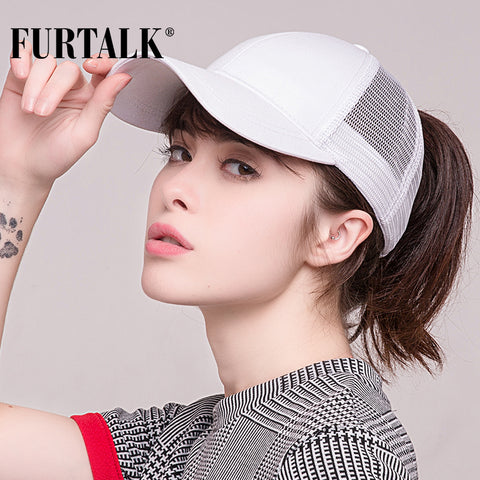 Women's Ponytail and Messy Bun  Baseball Cap with Snapback