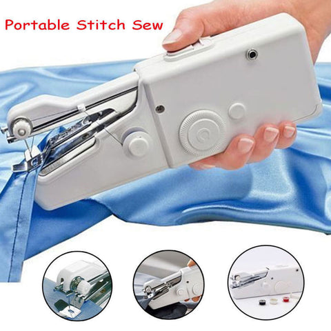 Hand Held Cordless Sewing Machine Quick Stitch Clothes and Fabric for Traveling