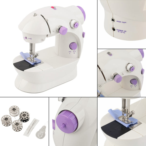 Multifunction Electric Mini Sewing Machine Dual Speed  Forward Reverse