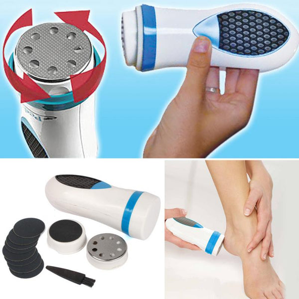 Personal Electric Pedicure Kit Removes Calluses Massages Softens Feet