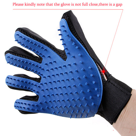 Silicone Pet Brush Glove Grooming Comb Cleans Hair and Gently Sheds
