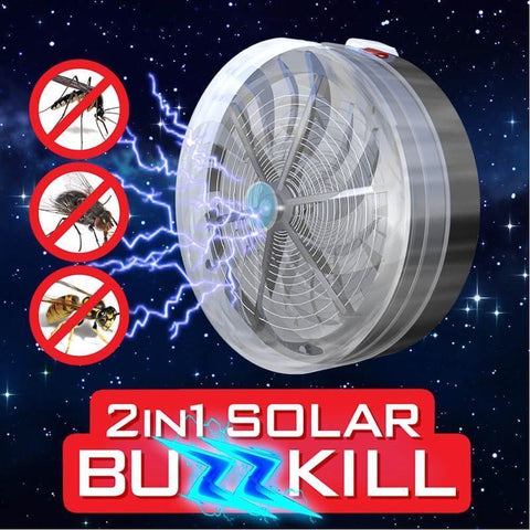 Solar Powered LED Lamp and Flying Insect Repeller/Zapper For Garden