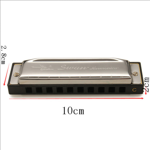Swan Harmonica 10 Hole 20 Tone Key of C  for  Blues, Jazz, Rock + Folk