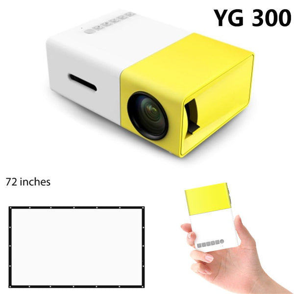 YG300 LCD Premium Portable Projector 400-600LM