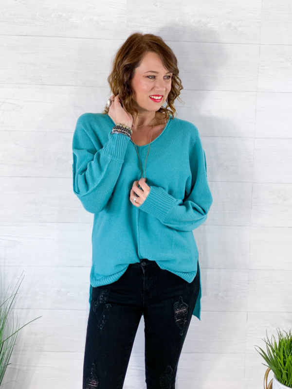Spring Feelings Sweater - Mint