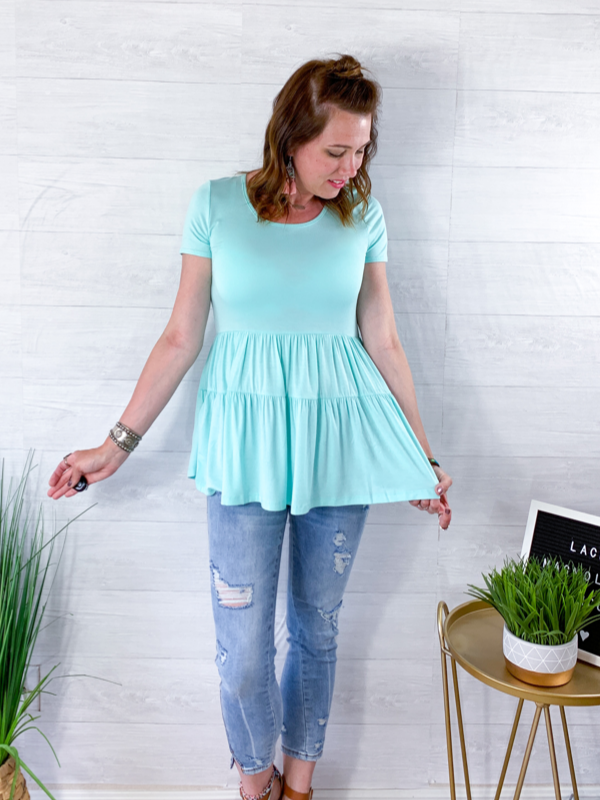 Palm Beach Breeze Top - Mint