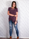 Basic Criss Cross Top - Eggplant