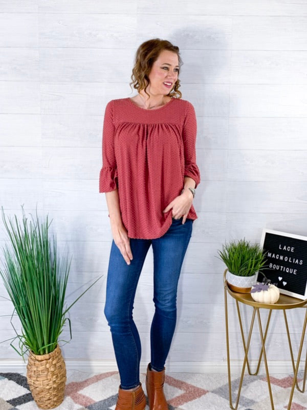Right By Side Blouse - Mauve