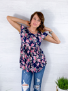 All This Time Babydoll Top - Navy