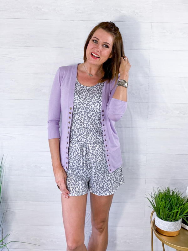 Spring Layers Cardigan - Lavender