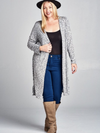 Two Tone Long Cardigan