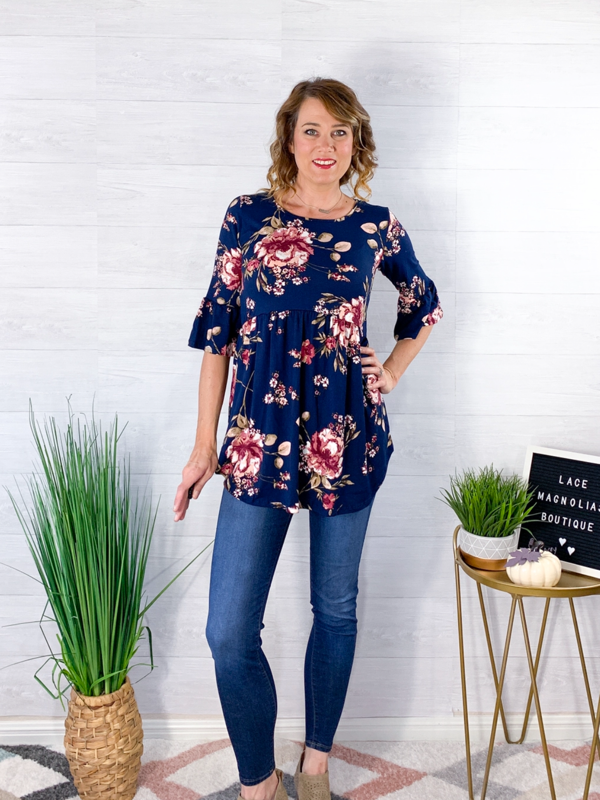 Sunset Love Top - Navy