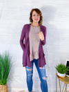All For You Cardigan - Plum
