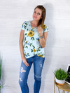 Blooming Love Floral Top - Light Blue