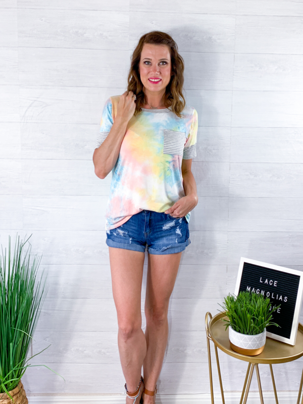 Rainbow Stripes Top - Tie Dye