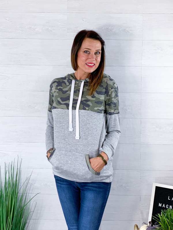 Don't Hide Your Feelings Hoodie - Army Green