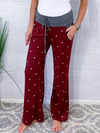 Sunday Morning Drawstring Pants - Burgundy