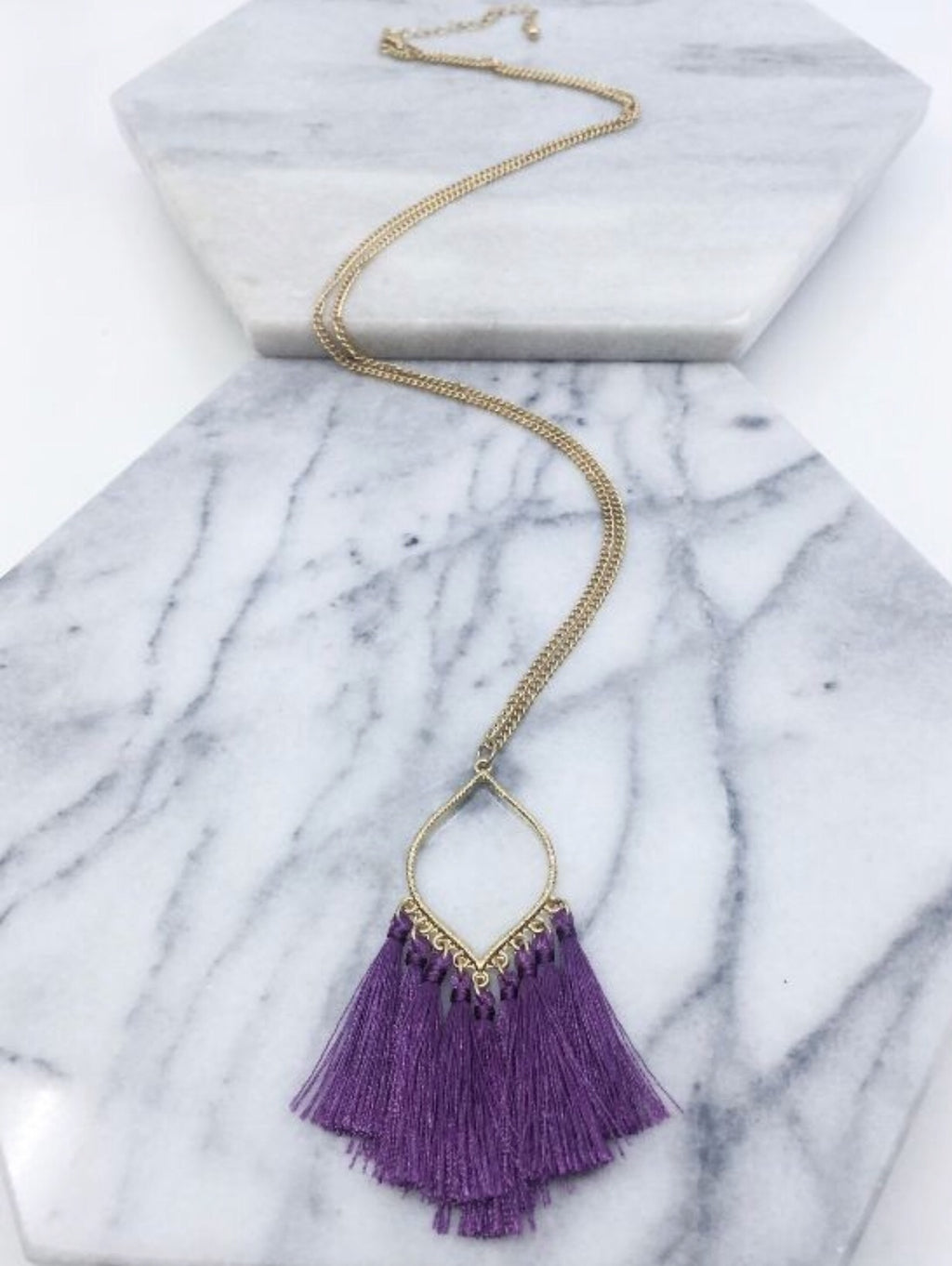 Drop Tassel Necklace