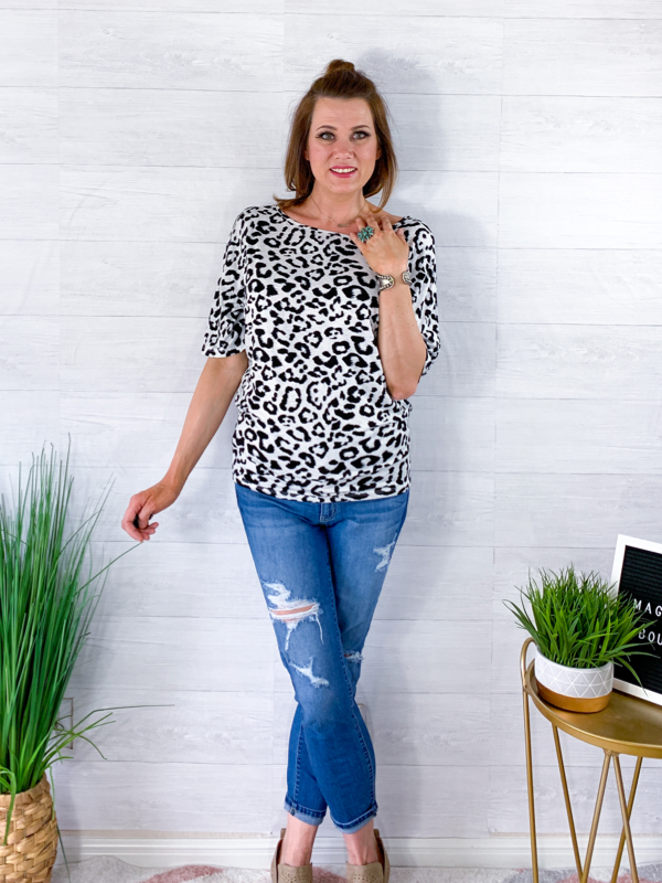My Wild Heart Dolman Top - Leopard
