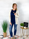 Choose To Be Cozy Cardigan - Cream