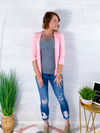 Spring Layers Cardigan - Dusty Pink