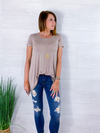 Just For Today Tunic Top - Taupe