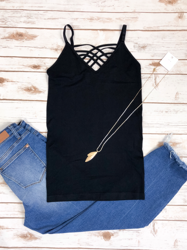 Criss Cross Cami - Black