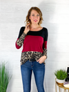 In Love With Lace Top - Burgundy