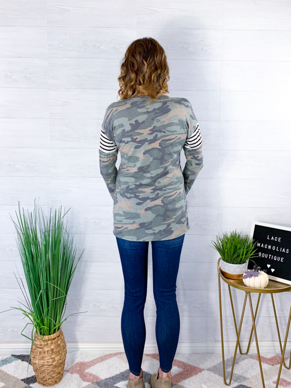 Our Secret Camo Top