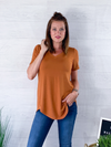 Basic Vneck Tee - Almond