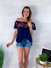 Summer Nights Blouse - Navy