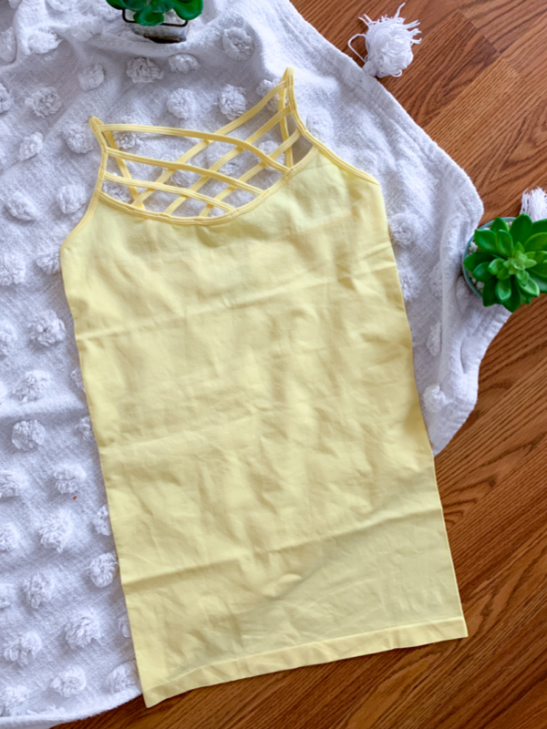 Criss Cross Cami - Sunshine