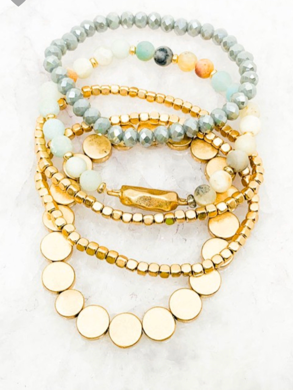Sonya Bracelet Set - Mint