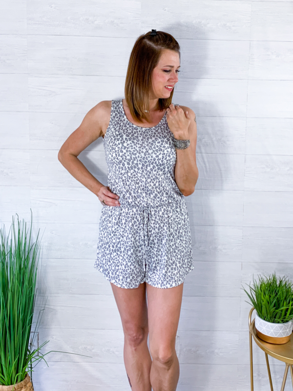 Calling All Divas Romper - Animal Print
