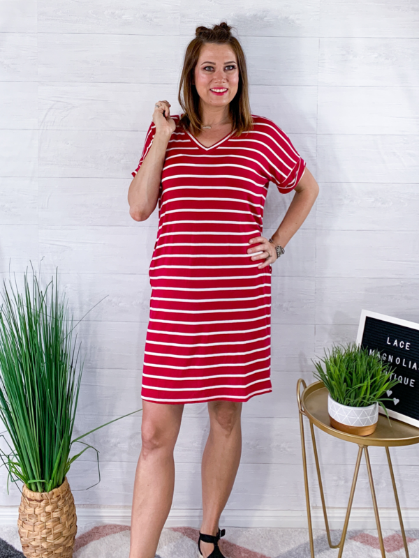 Sunny Days Dress - Burgundy