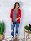 Spring Layers Cardigan - Ruby