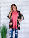 All Eyes On You Lace Top - Rose
