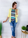 Spring Layers Cardigan - Yellow