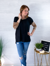 Show Your Wild Side Top - Black