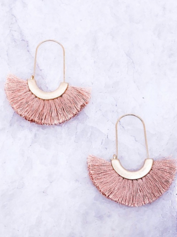 Sophia Earrings - Pink