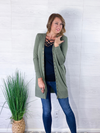 Fall Layers Cardigan - Olive